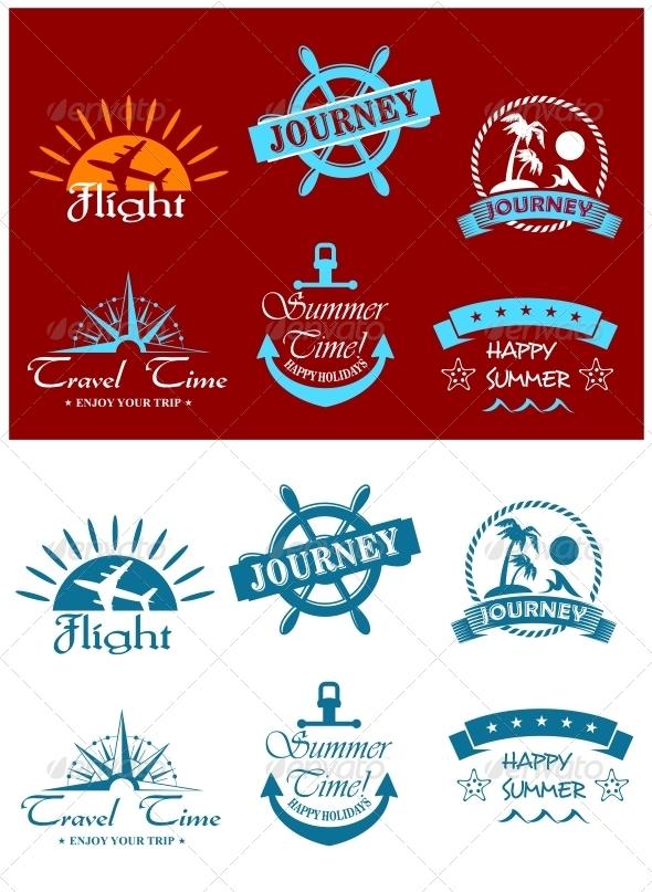 GraphicRiver Travel and Tourism Symbols 5615389