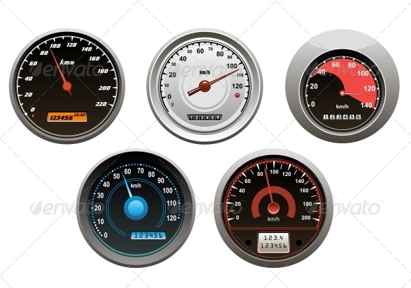 GraphicRiver Car Speedometers Set 5615406