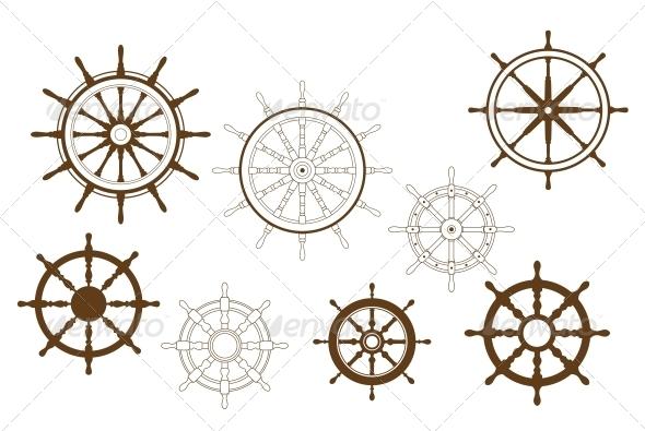 GraphicRiver Steering Wheels Set 5615408