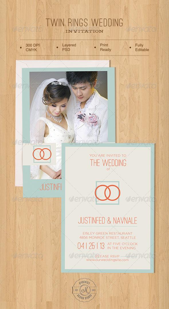 Twin Rings Wedding