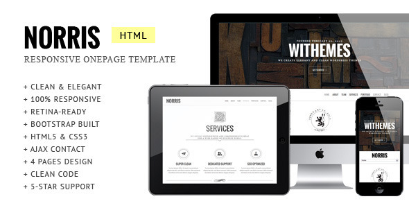 ThemeForest Norris Elegant Retina-ready Onepage Template 5591593