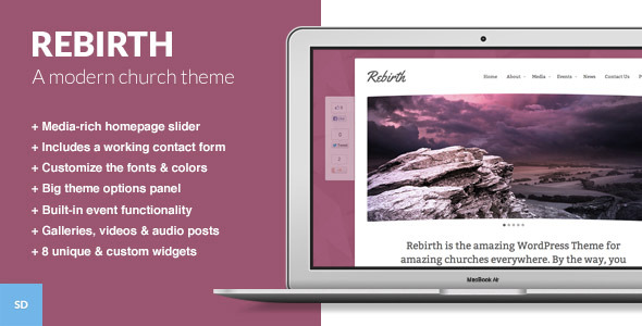 Rebirth - The WordPress Theme for Churches