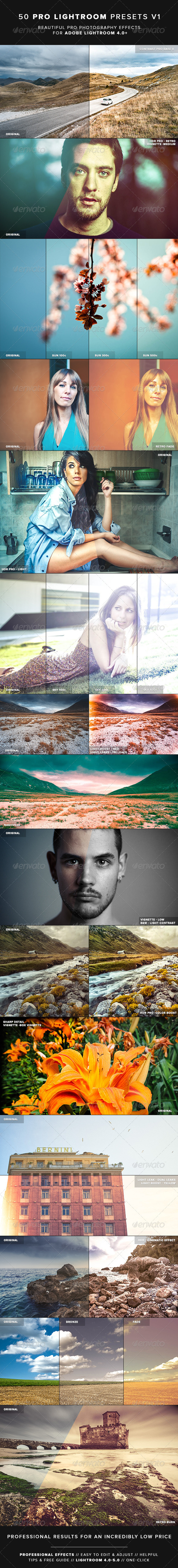 50 Pro Lightroom Presets V1 - Lightroom Presets Add-ons
