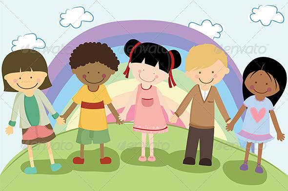 GraphicRiver Multi Ethnic Children 5615906