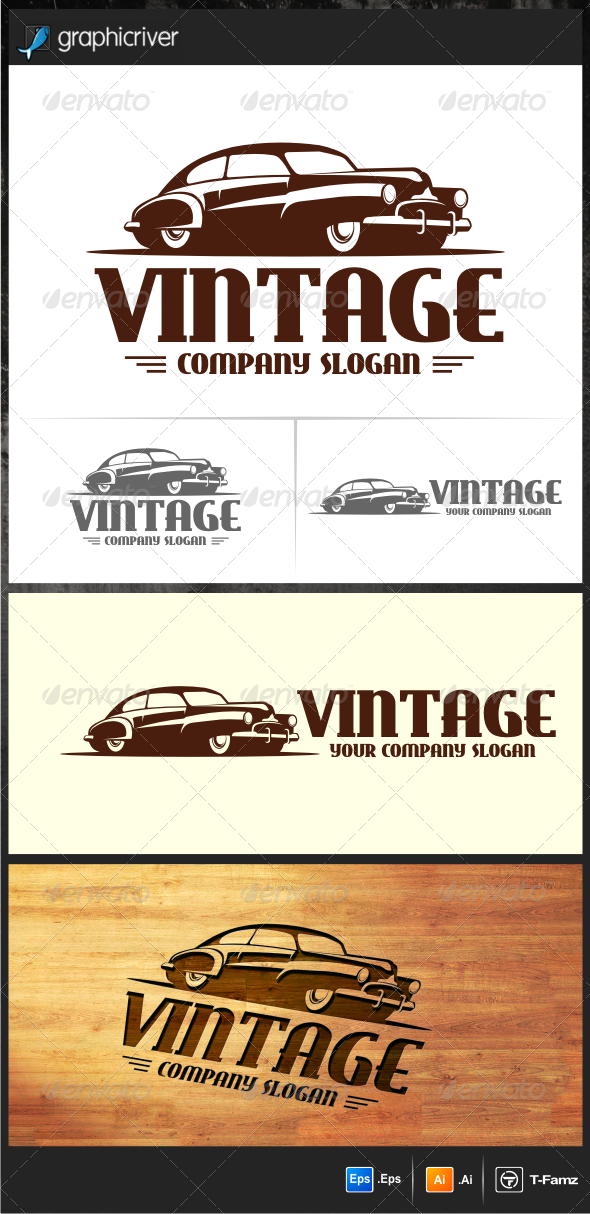 GraphicRiver Vintage Car Logo Templates 5615939
