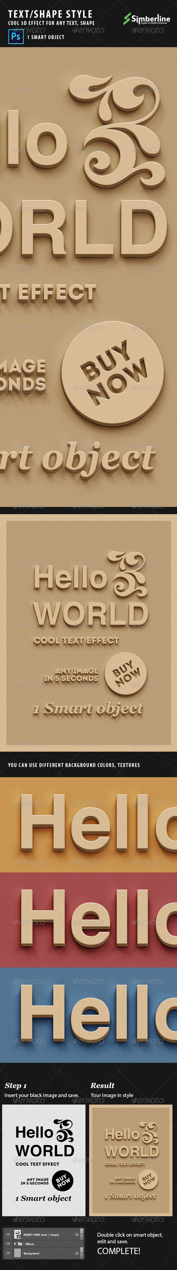 GraphicRiver Text Shape 3D Style 5587146