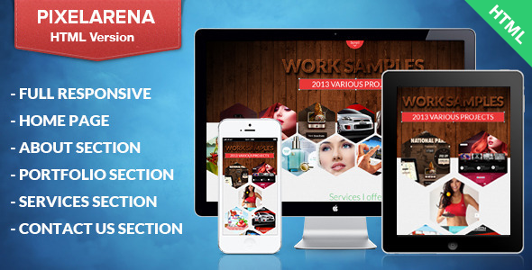 ThemeForest PixelArena Responsive HTML Single Page Portfolio 5616641
