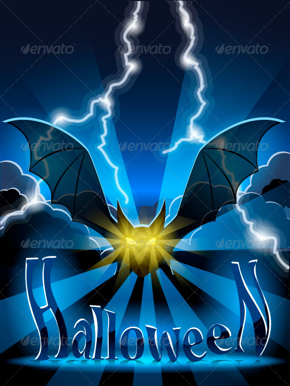 GraphicRiver Halloween Bat 5616740