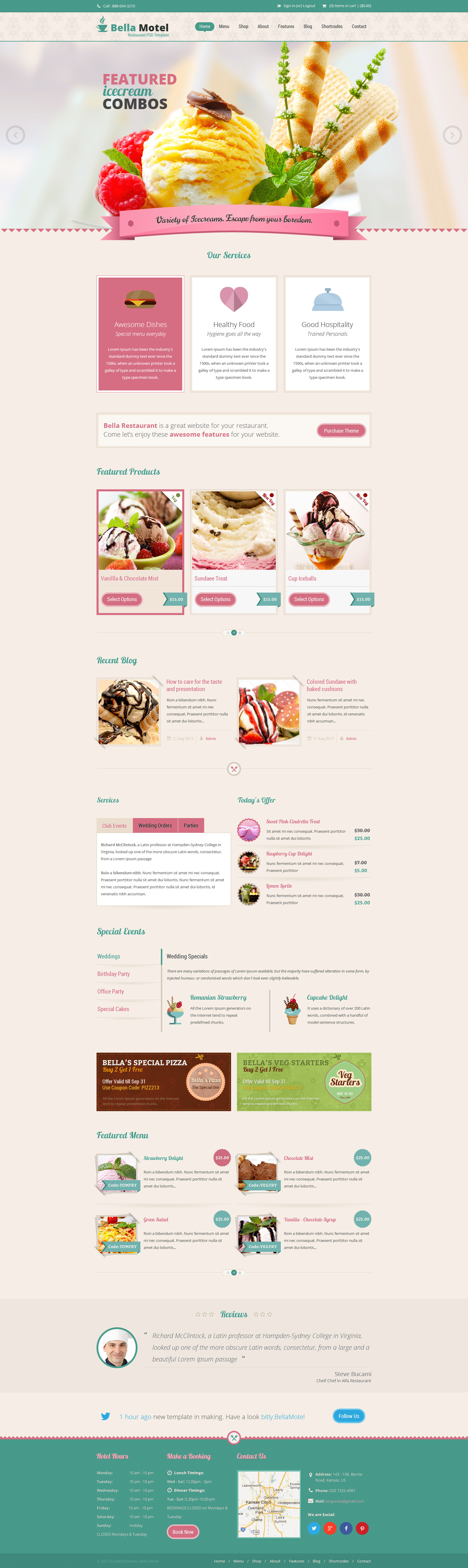 Bella - Restaurant & Bakery PSD