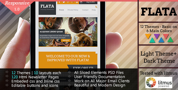 ThemeForest FLATA Flat Responsive Email Template 5617114
