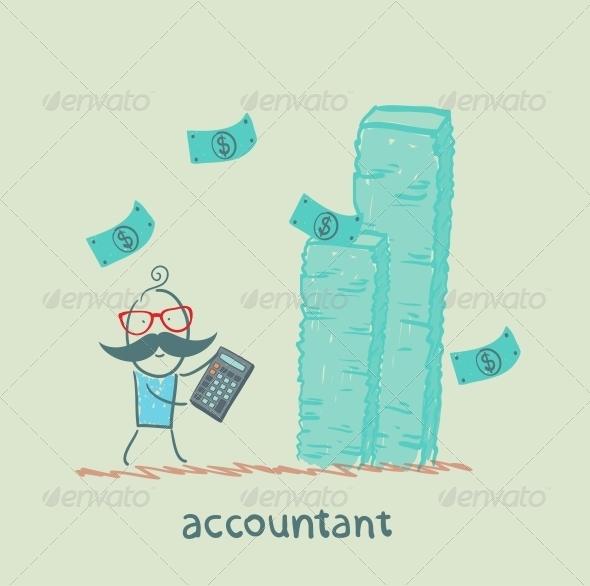 GraphicRiver Accountant with a Calculator 5617187