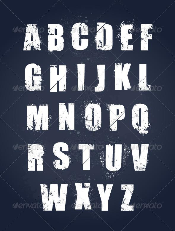 GraphicRiver Grunge Alphabet 5617237