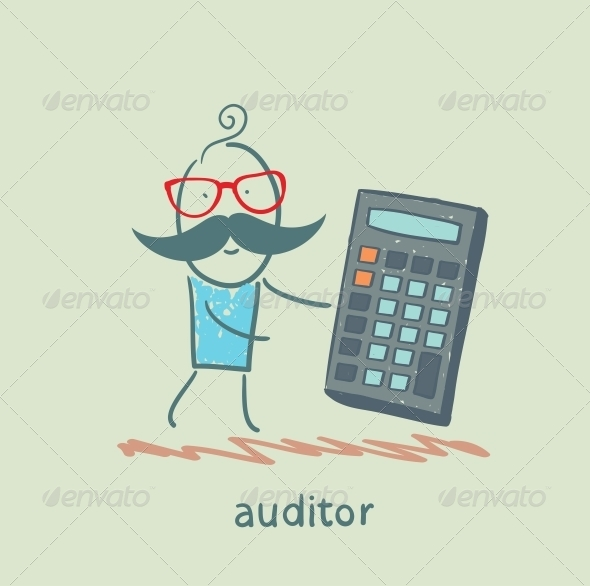 GraphicRiver Auditor with a Calculator 5617345