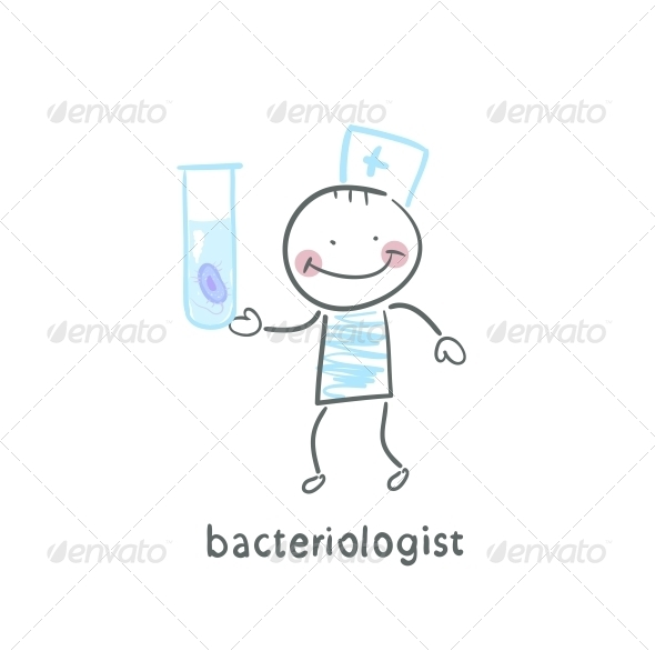 GraphicRiver Bacteriologist Looking at Test Tube 5617407