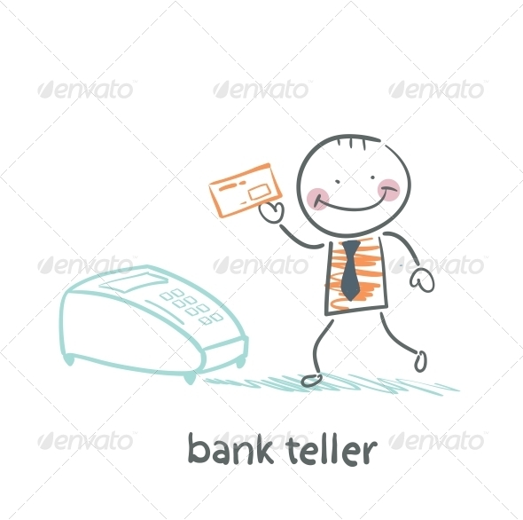 GraphicRiver Bank Teller with the Apparatus 5617515