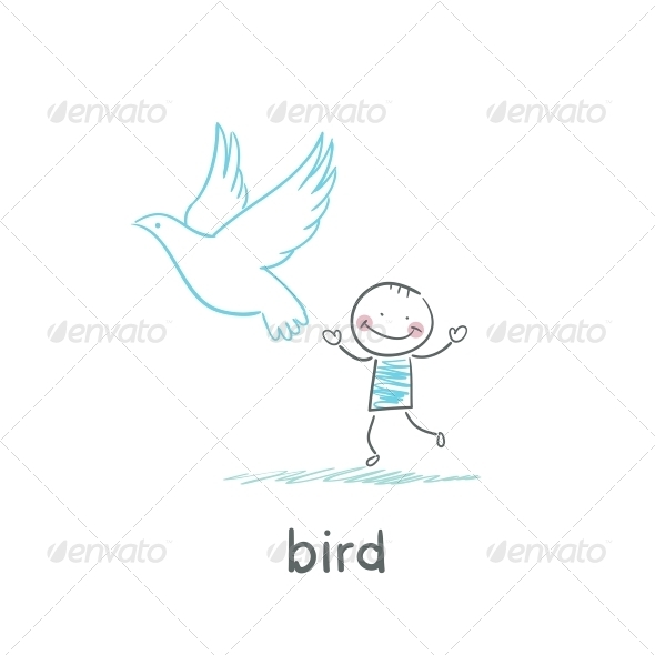 GraphicRiver Bird and Man 5617560