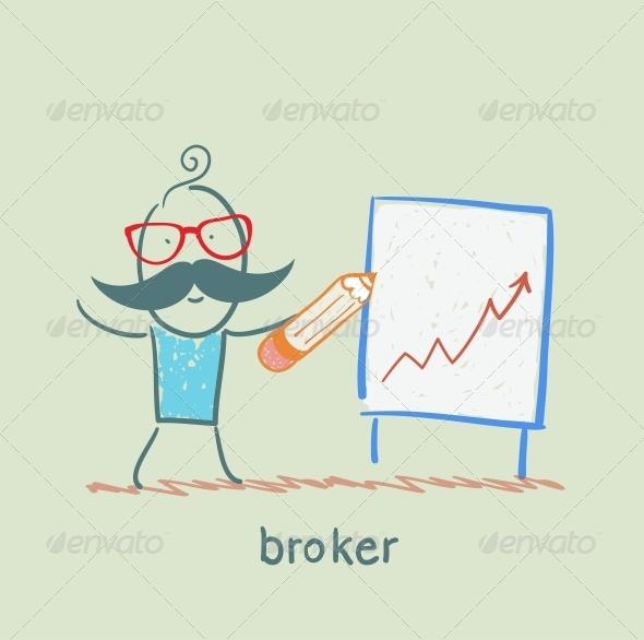 GraphicRiver Broker Draws a Graph 5617713