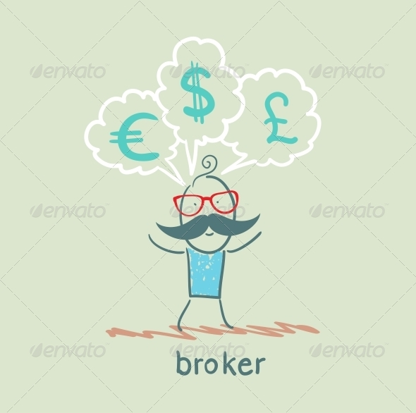 GraphicRiver Broker Thinks of Different Currencies 5617714