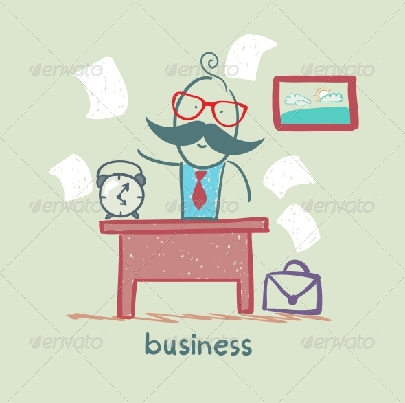 GraphicRiver People Working at the Desk Business 5617722