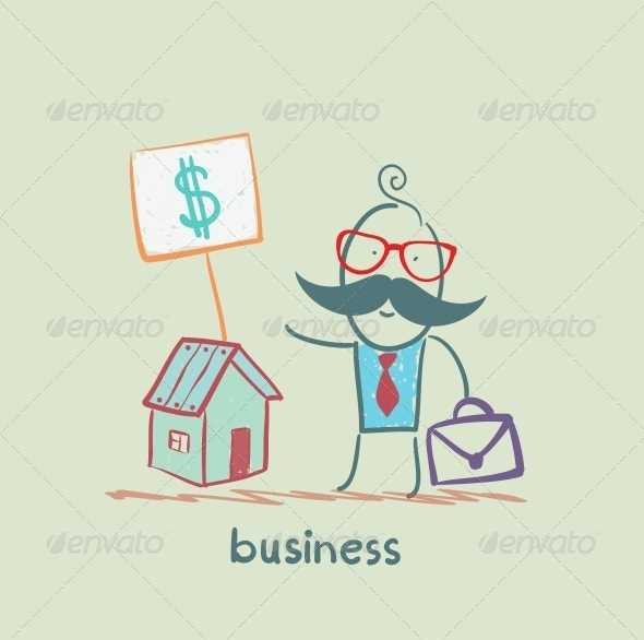 GraphicRiver Business Man to Sell House 5617723