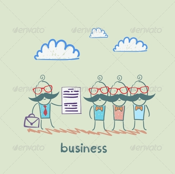 GraphicRiver Businessman Talks about Business People 5617731