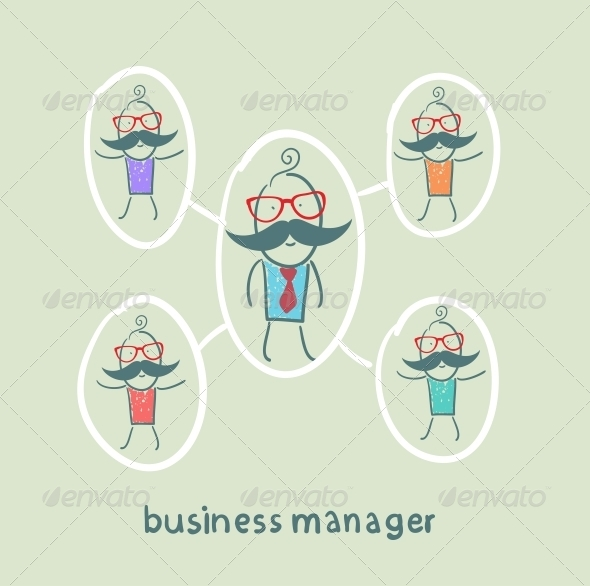 GraphicRiver Business Manager and his Staff 5618021