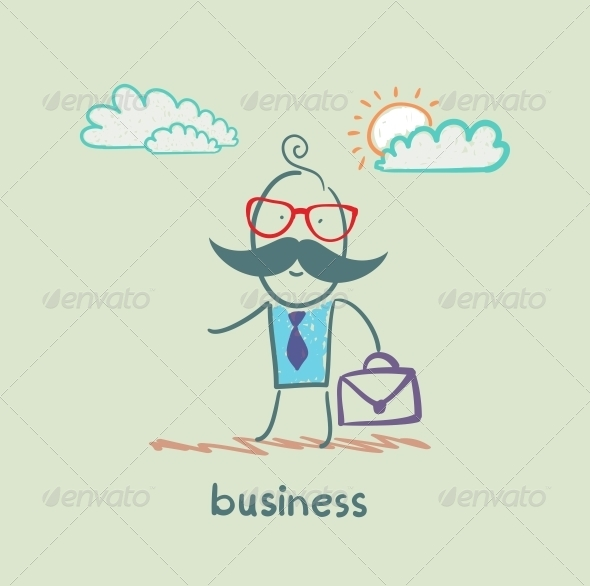 GraphicRiver Businessman with Briefcase 5618035