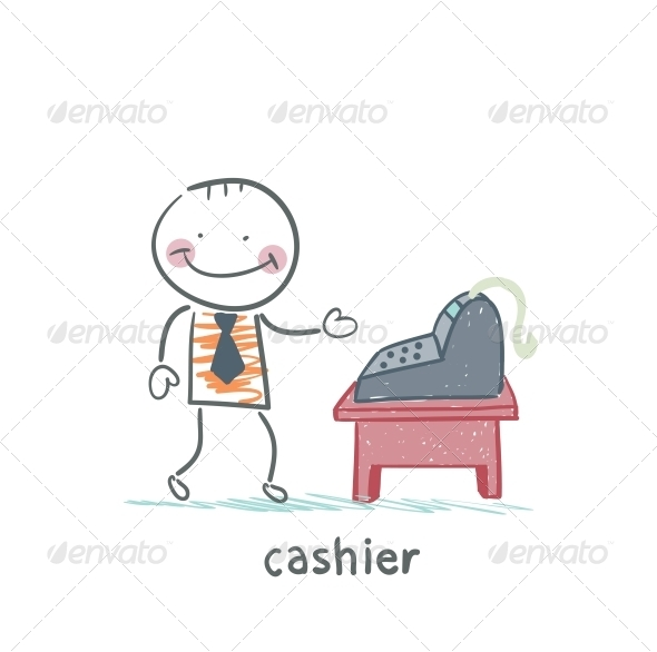 GraphicRiver Cashier at the Workplace 5618075