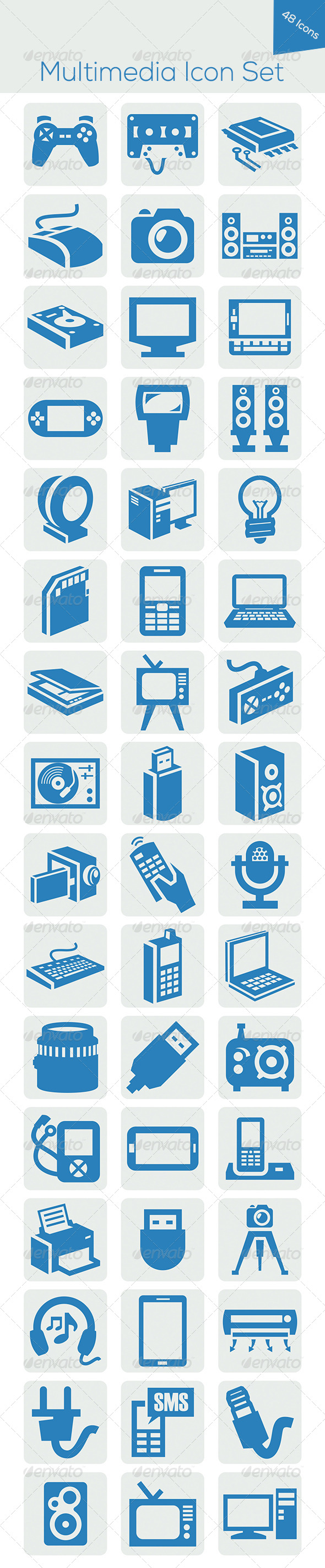 GraphicRiver Multimedia Icon Set 5618300