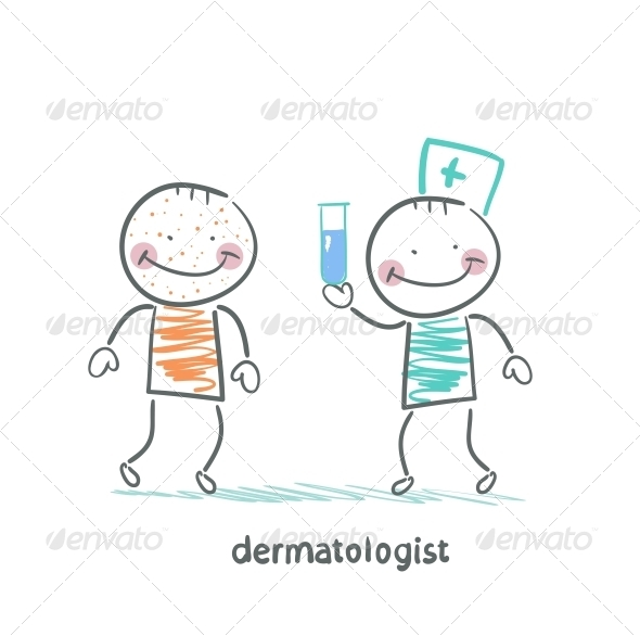 GraphicRiver Dermatologist Giving Medicine Patient 5618308