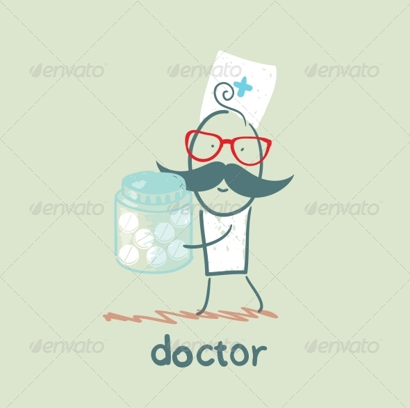 GraphicRiver Doctor With Pills 5618327