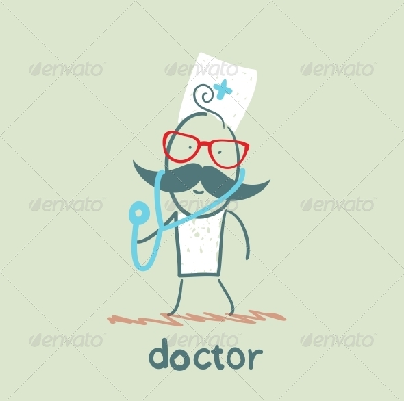 GraphicRiver Doctor With Stethoscope 5618351