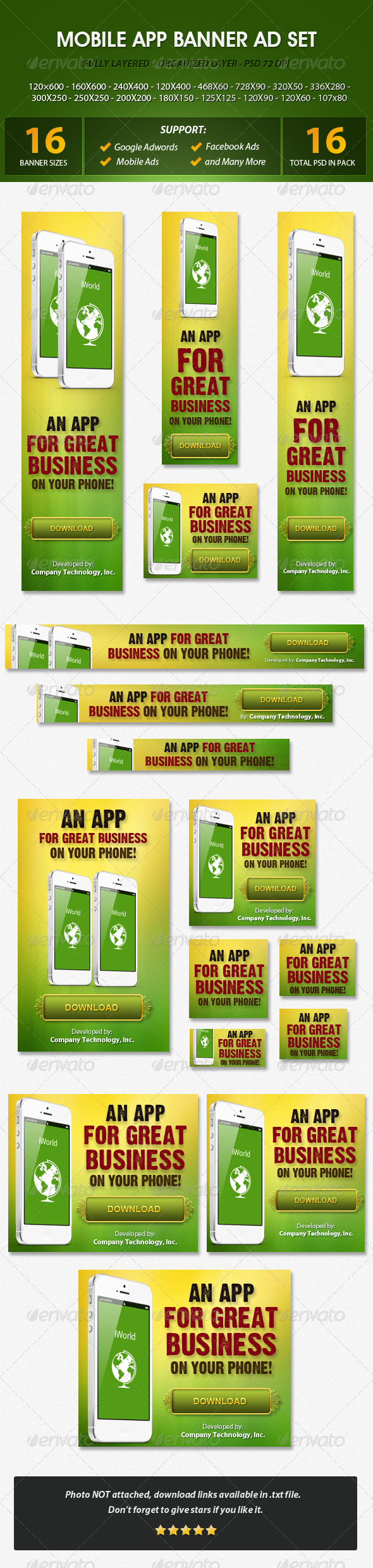 GraphicRiver Mobile App Banner ad Set 5618352