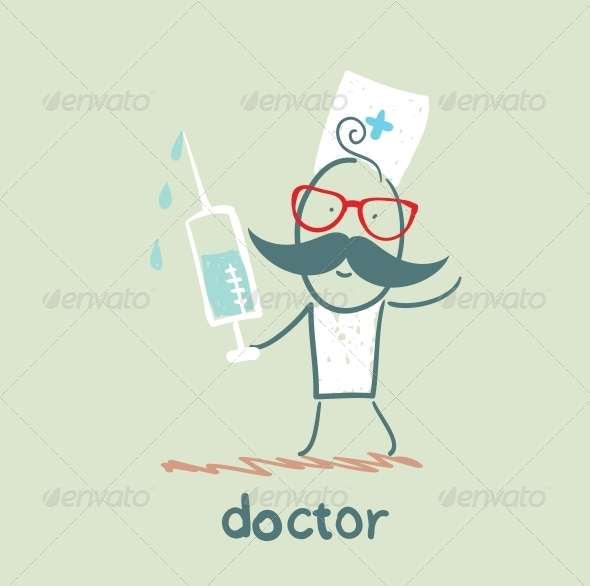 GraphicRiver Doctor With a Syringe 5618355