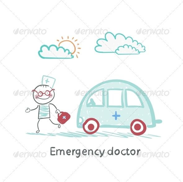 GraphicRiver Emergency Doctor with the Machine 5618588