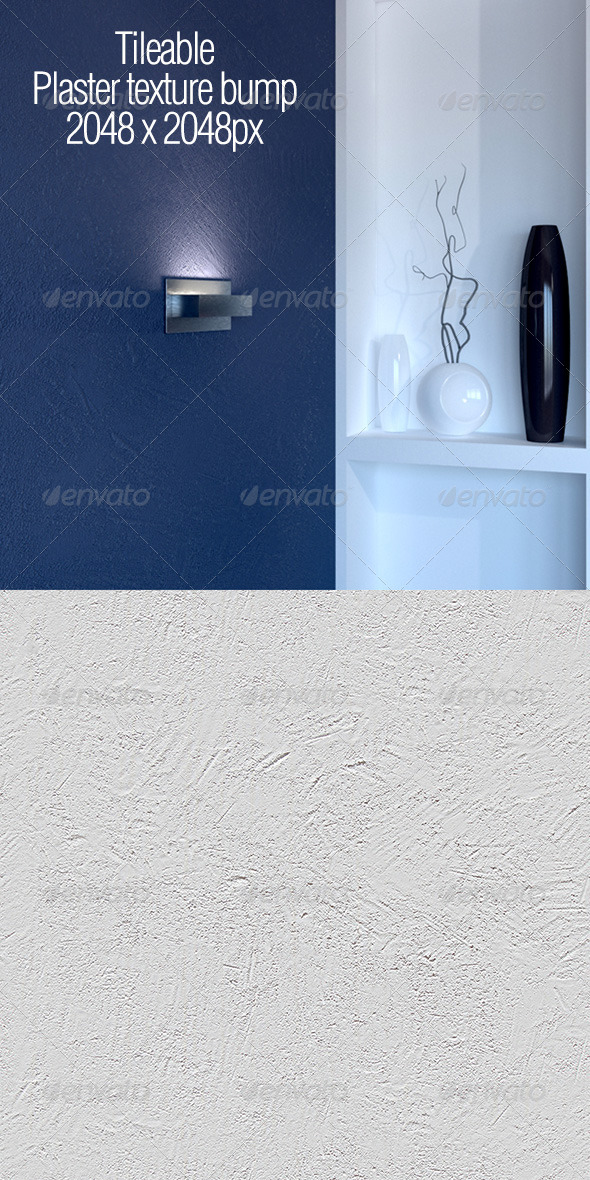 Tileable plaster texture - 3DOcean Item for Sale
