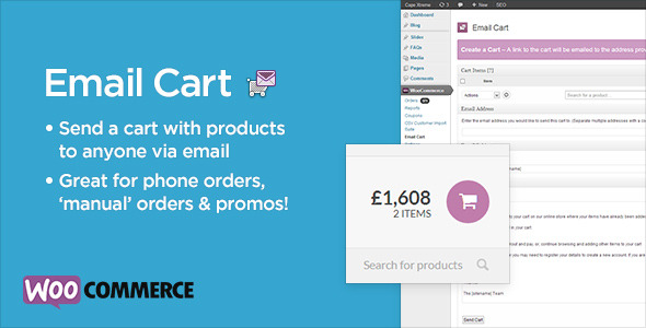 CodeCanyon Email Cart for WooCommerce 5568059
