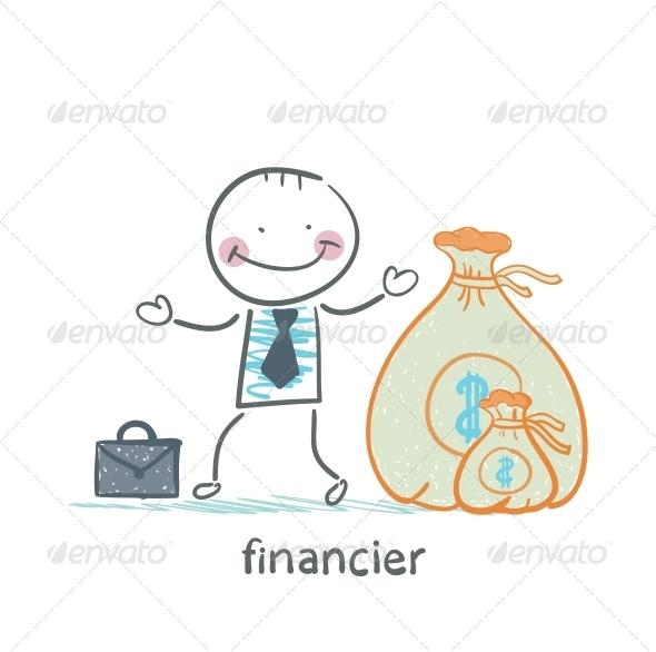 GraphicRiver Financier is a Bag of Money 5618820