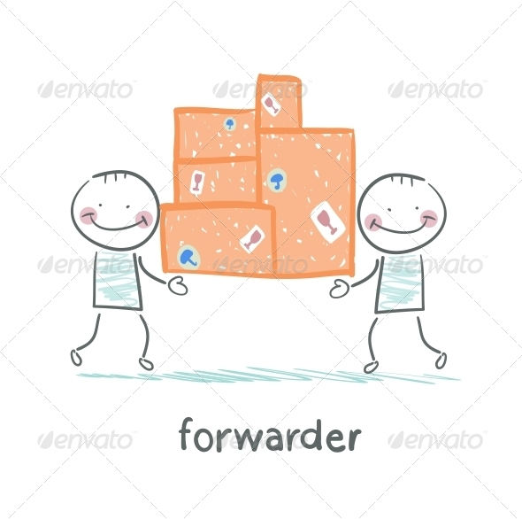 GraphicRiver Forwarder Has Boxes With Goods 5618885