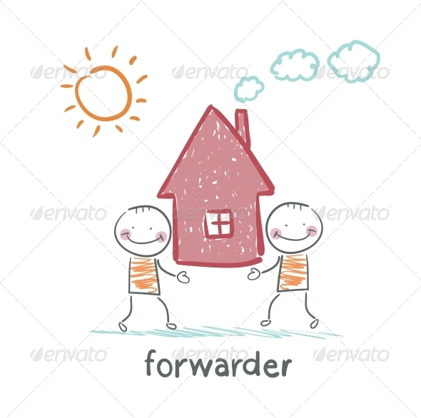 GraphicRiver Forwarder Carries a House 5618890
