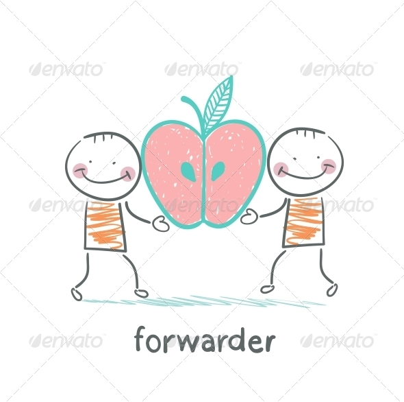 GraphicRiver Forwarder is Holding an Apple 5618892