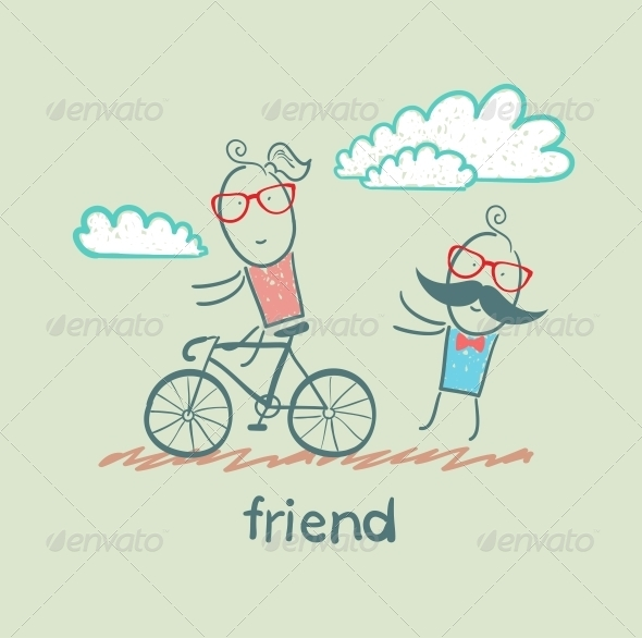 GraphicRiver Friend Riding Bike 5618904
