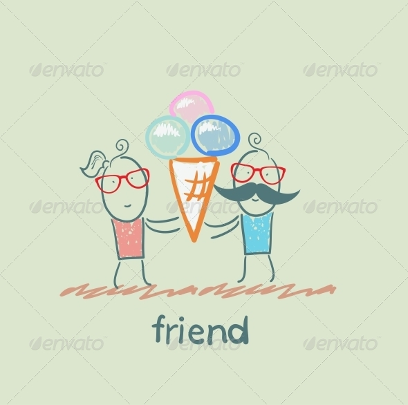 GraphicRiver Friends with Ice Cream 5618909