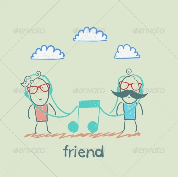 GraphicRiver Friends Listening to Music 5618910