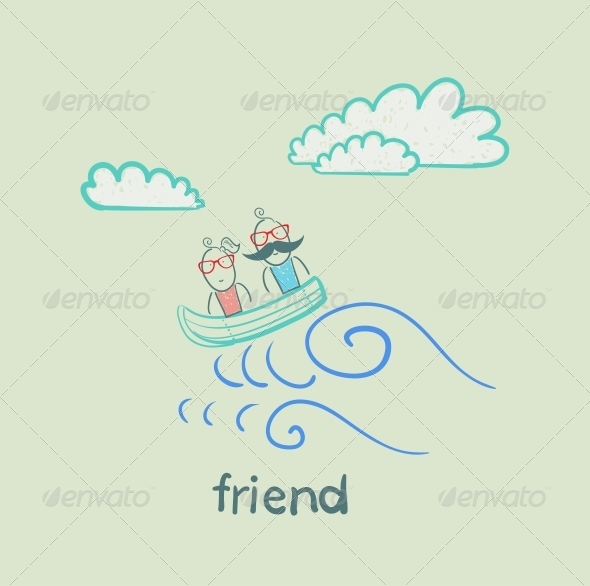 GraphicRiver Friends on a Boat 5618912