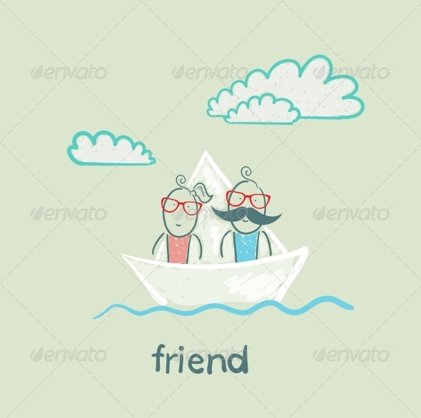 GraphicRiver Friends on a Boat 5618916
