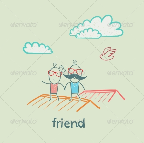 GraphicRiver Friends on a Roof 5618922