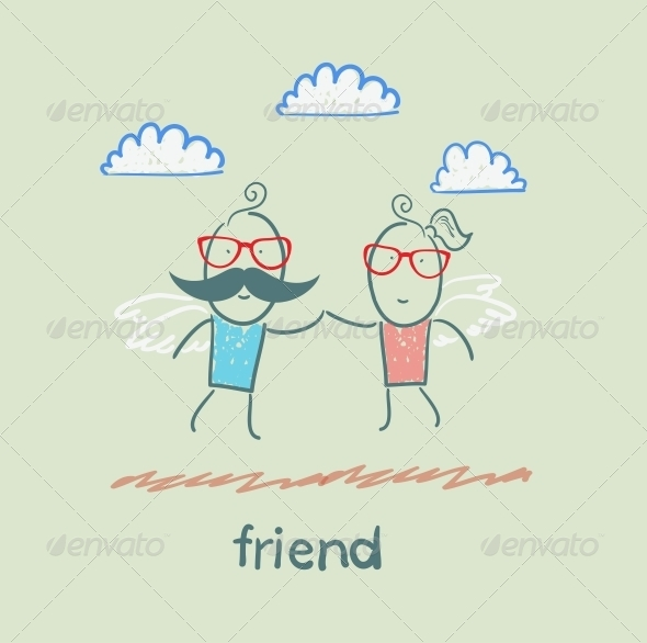 GraphicRiver Friends Flying 5618937