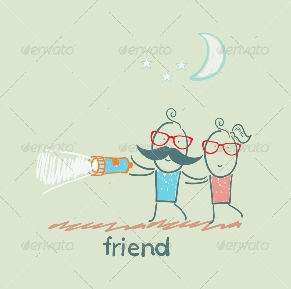 GraphicRiver Friends at Night 5618952