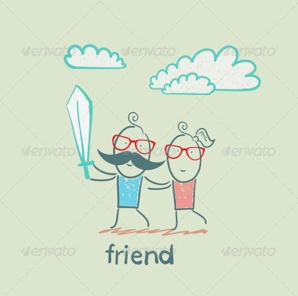 GraphicRiver Friend with Sword 5618961